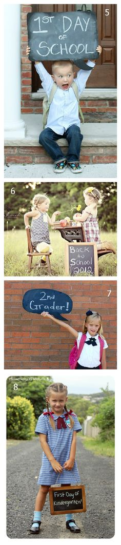 First day of school sign chalkboards 5 8 12 First Day of School Photo Ideas First Day Of School Pictures, 1st Day Of School, School Photos, School Fun, School Photography, Children Photography, Family Photography, Kindergarten Photos, Kindergarten First Day