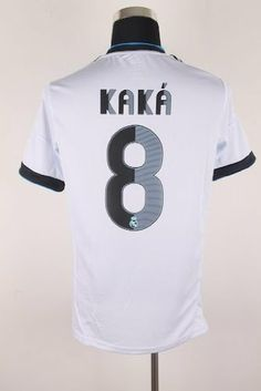 Real Madrid 2012 - 2013 KAKA Home Jersey Shirt & Shorts Size L by adidas. $49.99. adidas Real Madrid Home Jersey 2012/2013  Play like a Galactico in the adidas Real Madrid 2012/2013 Home Shirt, complete with the clubs famous club badge to the left chest and printed sponsor to the centre, with the classic adidas 3-Stripes logo to the right chest and styling to the shoulders and sleeves.  The mens Real Madrid home shirt provides a superb fit suitable for both the st...