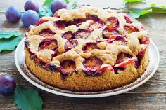 I'm checking out a delicious recipe for Rustic Plum Cake from Kroger! Desserts Ostern, Plum Cake, Rustic Cake, Colorful Cakes, Spring Recipes, Food Cakes, Let Them Eat Cake, Cake Cookies, Carne