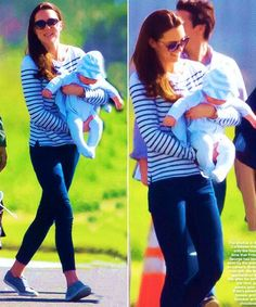 Prince George's first holiday with his mum, Catherine, January 2014.  He is quite the chunky wee one!!