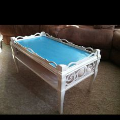 Antiqued coffee table...