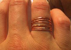 Copper Super Slim Stacker Ring / Wear It Jewelry