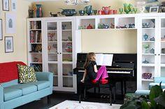 Piano bookcase