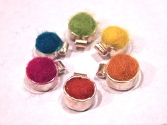 Tiny Sterling Silver & Felt Charm by ArtSimply on Etsy, $30.00