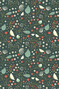 Art Et Illustration, Christmas Illustration, Pattern Illustration, Flower Phone Wallpaper, Fabric Wallpaper, Textile Patterns, Print Patterns, Color Patterns, Stoff Design