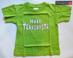 Koszulka Dziecięca Mały Terrorysta - Jasna Zieleń