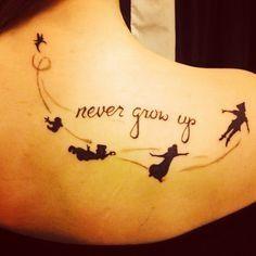 Never grow up tattoo