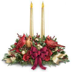 The Spirit Of The Season Cardinal Songbird Table Centerpiece