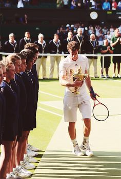 Andy Murray - the first Scottish man (first Brit too) to win Wimbledon (2013)! Well done Andy, we are proud of you :)