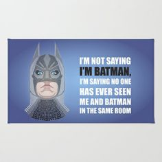 Doted BAT-MAN Area & Throw Rug by Salina Ayala - $28.00