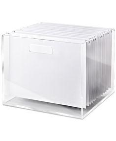 Russell & Hazel Acrylic File Box