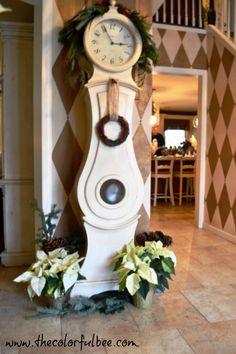 My #Swedish Mora Clock decorated for #Christmas