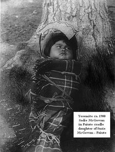 Yosemite Indian early photos - Sadie McGowan - Paiute Indian, Yosemite California ca. 1900 by Yosemite Native American, via Flickr