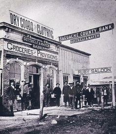 Saguache - Gotthelf & Mayer Mercantile and Bank / 4th St. Late 1870's
