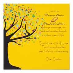 Tree of Life Wedding Invitation Bar Bat Mitzvah