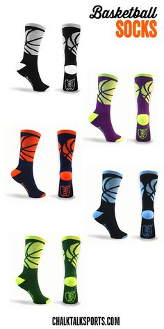 Our basketball socks not only look great but are super comfortable. A great everyday sock and athletic sock.  Perfect gift for any basketball player to wear all summer long!  Only from ChalkTalkSPORTS.com!