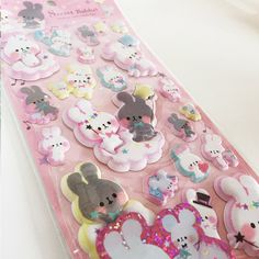Scented Cute Kawaii Puffy Rabbit Stickers by adorbsfromjapan on Etsy https://www.etsy.com/listing/256002799/scented-cute-kawaii-puffy-rabbit