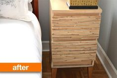 Before & After: An IKEA Nightstand Gets An Influx of Texture