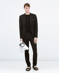 Image 1 of Suit with edged pockets from Zara
