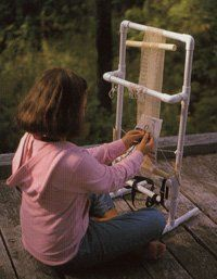 Find out how to make a PVC pipe loom in this project excerpt from the book, Kids Weaving by Sarah Swett. Related: DIY Weaving Loom