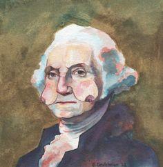 Emilie Deutchman - George Washington Presidents with Boob Faces