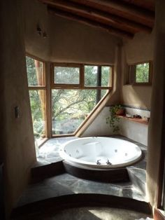 Cob house, earthship, cabins and cottages Earthship Home, Earthship Design, Earth Bag Homes, Natural Homes, Natural Building, Cabins And Cottages, My Dream Home, Future House, House Plans