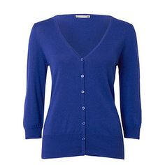 Ladies' 3/4 Sleeve V-Neck Cardigan - Clematis Blue – Target Australia