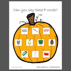 Squish playdough on each /p/ word as you say them. Great for articulation practice. P Words, Veterans Day, Autumn Theme, Speech Therapy, Teaching Ideas, Templates, Sayings, Fall, Speech Pathology