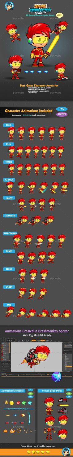 2D Game Character Sprites 277 - Sprites Game Assets