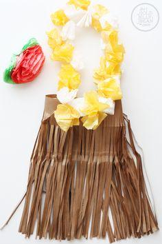 DIY Hula Girl Dress Up Halloween Costume