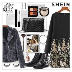 """Look inspired by SHEIN"" by maiah-bee ❤ liked on Polyvore featuring Gucci, Velour Lashes and MAKE UP FOR EVER"