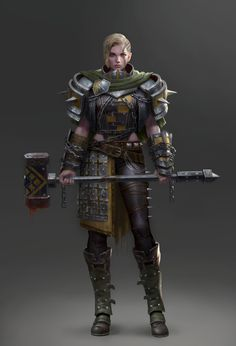 ArtStation - Hammer Warrior, Yoon Seseon