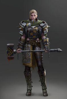 ArtStation - Hammer Warrior, Yoon Seseon
