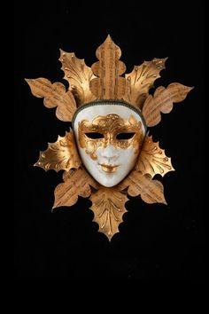Foglie d Oro Maschera Veneziana Originale Artigianale Fatta A Venezia!  7b2c1e14170b