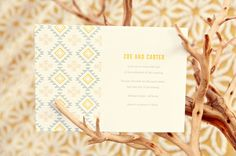 Bohemian Wedding Inspiration // Letterpress Navajo/Mexican-inspired invitation [ @Michaela the pattern! ]