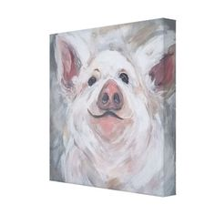 Pig called Wilbur Canvas Print - classic gifts gift ideas diy custom unique