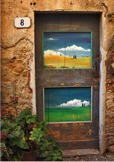 La porta del n.8 Entrance Gates, Entry Doors, Painted Doors, Wooden Doors, Rustic Exterior, Cool Doors, Door Gate, 10 Picture, Entry Ways