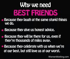Why we need best friends..... I truly believe you can only count BEST TRUE friends on one hand - and you're blessed if you get to five. Treasure them ♡