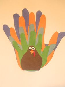 Family Hand Print Turkey
