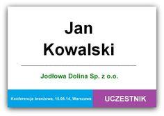 Jak powinien wyglądać idealny identyfikator konferencyjny? http://www.konferencje.pl/artykuly/art,772,idealny-identyfikator-konferencyjny-jak-powinien-wygladac.html #identyfikatorkonferencyjnywzór, #nametag, #tag, #conference, #identyfikator, #wzór,