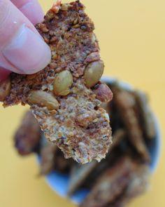 Crackers de semillas y avena Mixed Nuts, Vegan Snacks, Sin Gluten, Superfoods, Granola, Hummus, Paleo, Food And Drink, Healthy Recipes