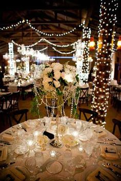 Rustic Romance Angelic Grove Blings Out A Barn For An Arizona Ranch Wedding Bling CenterpieceFloral