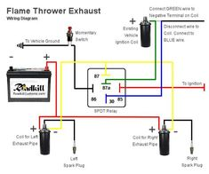 electric fans with relay wiring 12 volt dc electric cars, truckflame thrower exhaust wiring diagram