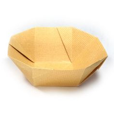 Origami-make.com describes this as a simple origami bowl.  Not sure how simple it is, or maybe the instructions are a little confusing.  Haven't tried it yet.