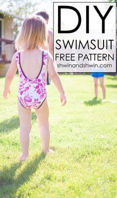 DIY Swimsuit || FREE PDF Pattern || Shwin&Shwin