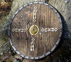 Round wooden shield