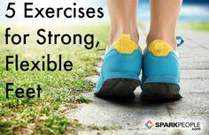 5 Exercises for Stronger, More Flexible Feet via @SparkPeople