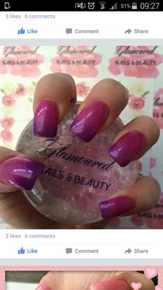 Gel Extensions with colour changing gel polish