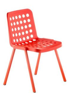 Coloured polypropylene chair | Pedrali Koi Booki 370 powdercoated aluminum frame and feet