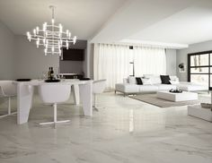 Porcelánico imitación mármol calacatta brillo modelo Calacatta Bianco